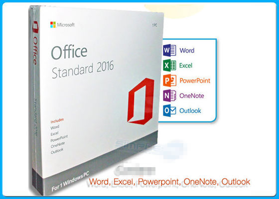 Online Pro Standaardvergunning 1 PC DVD van Activeringsmicrosoft office 2016