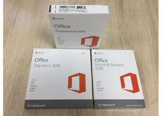 China Commercieel PKC OEM Microsoft Office 2016 Huis, de Sticker Kleinhandelsversie van Microsoft Coa fabriek